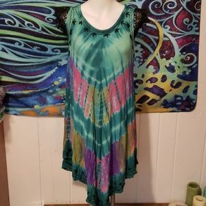 phases tie dyed dress